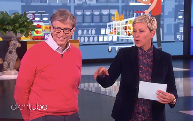 46827 Билл Гейтс попытался угадать на шоу Эллен Дедженерес, сколько стоят продукты в супермаркете