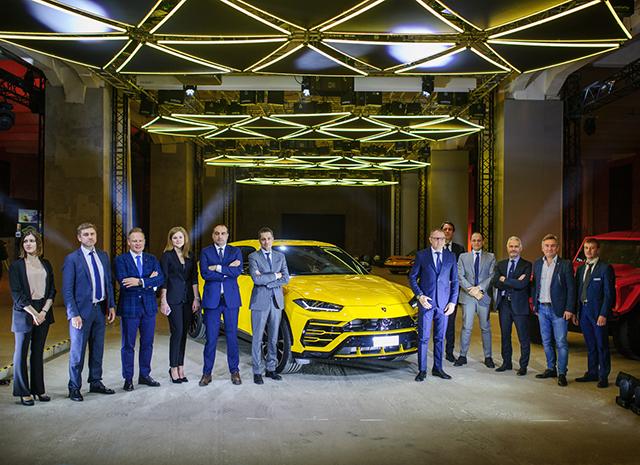 46621 Светлана Бондарчук, Надежда Оболенцева и другие на презентации Lamborghini в Москве