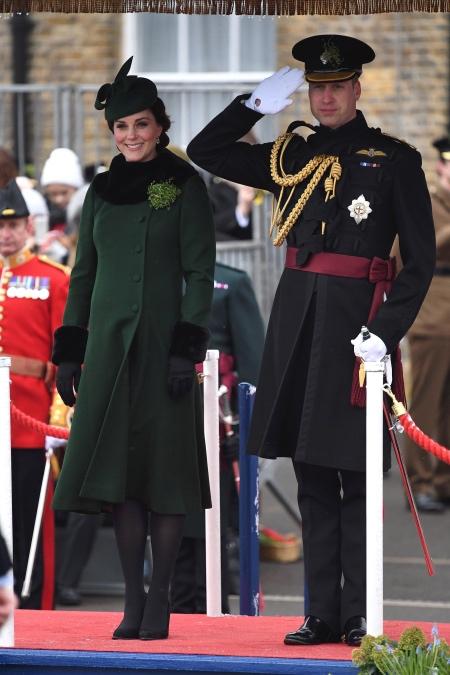 Кейт Миддлтон и принц Уильям появились на параде в честь Дня святого Патрика в Лондоне