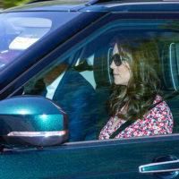 48469 Кейт Миддлтон впервые замечена в Лондоне после рождения принца Луи