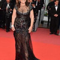 48493 Мама Криштиану Роналду шокировала Канны своим прозрачным платьем