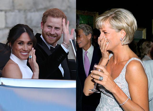 Меган Маркл надела после свадьбы кольцо принцессы Дианы