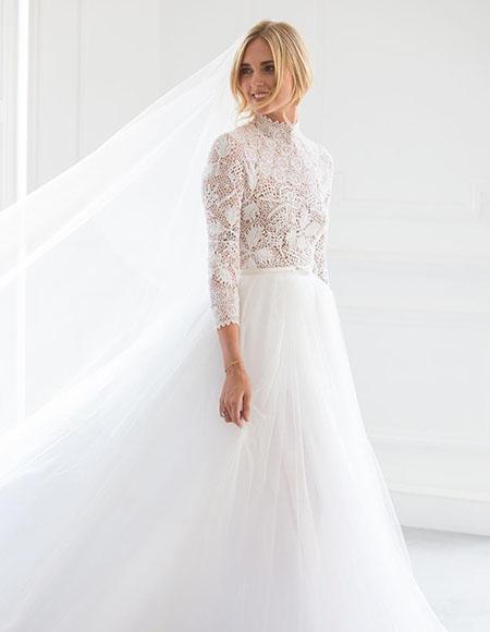 Кьяра Ферраньи вышла замуж за рэпера Федерико Лючию: фото с церемонии, платье невесты и другие подробности