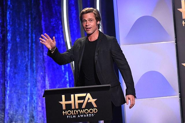 Брэд Питт, Николь Кидман, Энн Хэтэуэй и другие на церемонии Hollywood Film Awards-2018