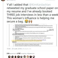 51567 Ким Кардашьян помогла незнакомцу с поиском работы
