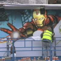 53580 Marvel Мстители -- граффити постер. День 2.