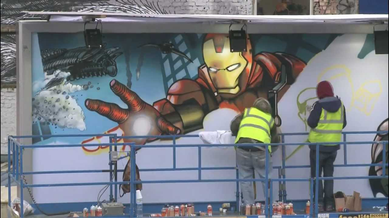 Marvel Мстители — граффити постер. День 2.