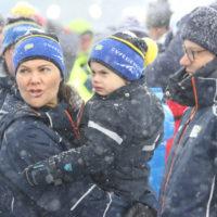 53821 Шведская кронпринцесса Виктория с мужем и детьми попали в снежную бурю