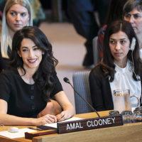 55364 Амаль Клуни и Надя Мурад бросили вызов Совету Безопасности ООН