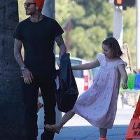 55118 Леди Босс: Харпер и Дэвид Бекхэм на шопинге в Лос-Анджелесе