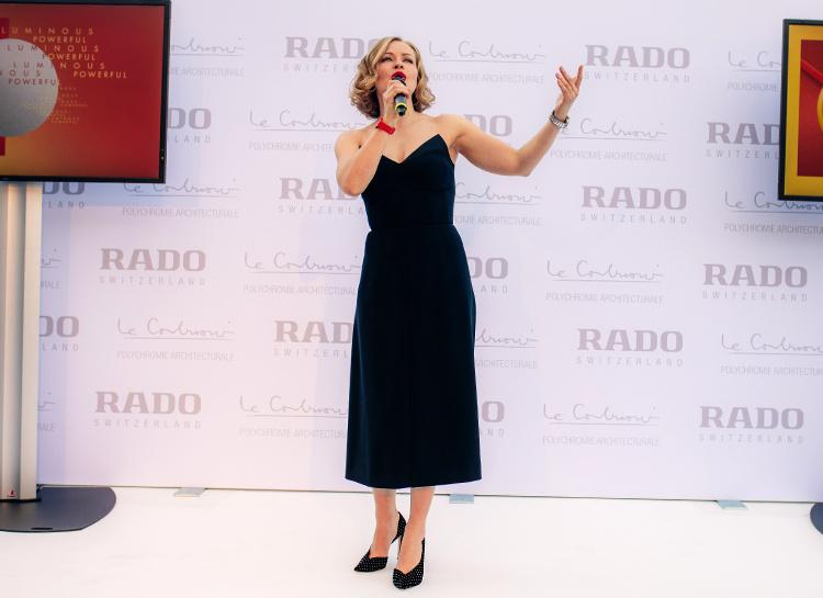 Сила цвета: Юлия Пересильд на презентации Rado в Цюрихе