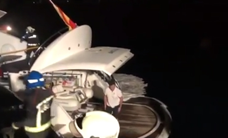 Владимир Кличко вместе с семьей был эвакуирован с яхты из-за пожара