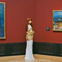 56486 Муся Тотибадзе в арт-проекте на выставке Мунка