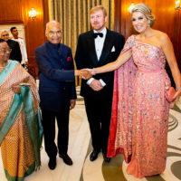 58401 Нежнее нежного: королева Нидерландов Максима на банкете во дворце в Нью-Дели