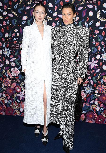 61601 Джиджи и Белла Хадид, Деми Мур, Гвинет Пэлтроу и другие на открытии выставки Harper's Bazaar