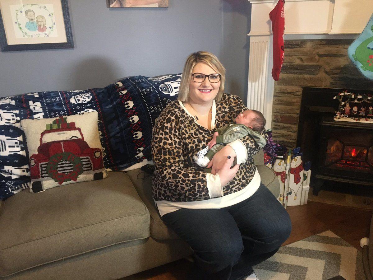 61537 Женщина узнала, что беременна за 9 дней до рождения малыша