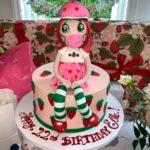 62772 Карантинный торт и много клубники: актриса Эль Фаннинг получила на свое 22-летие необычные сладкие подарки