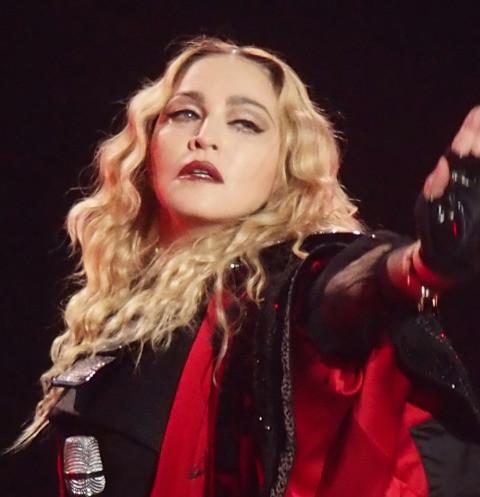 64113 Полуобнаженная Мадонна с костылем — фото