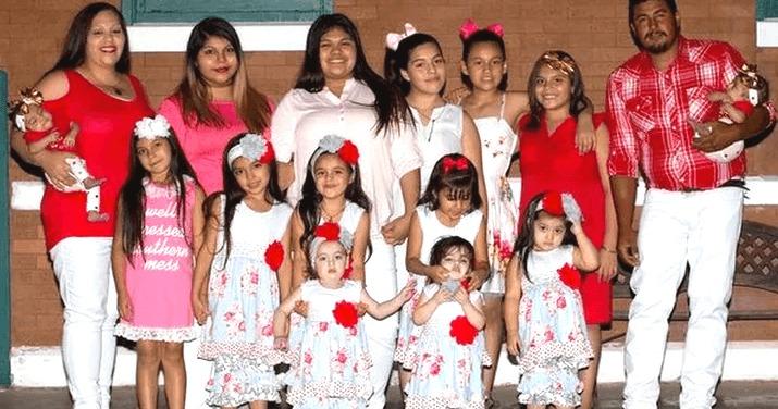 64467 Ей всего 29 лет, а она родила уже 14 девочек, а все потому, что семья мечтает о мальчике