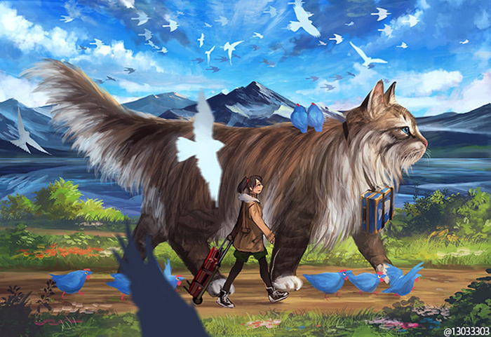 66016 Japanese Illustrator Creates a World Of Giant Animals