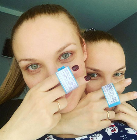 67002 Ольга Арнтгольц стала мамой на 20 дней раньше сестры Татьяны
