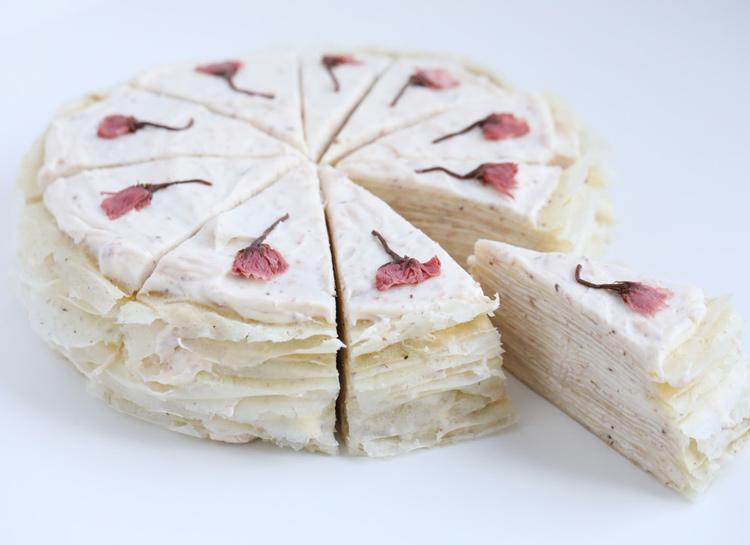 66907 Рецепт к Масленице: блинный торт с японской сакурой